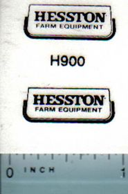 Decal 1/16 Hesston Farm Equipment (black)