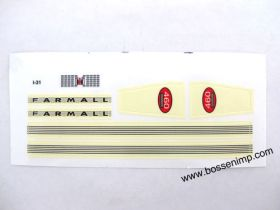 Decal 1/16 Farmall 460 Set (early version)