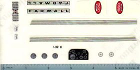 Decal 1/16 Farmall 560 Diesel Set (early version C&M)