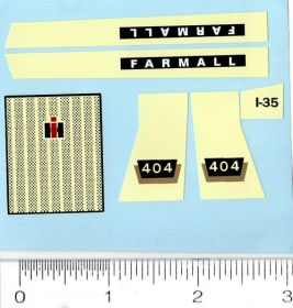 Decal 1/16 Farmall 404 Set
