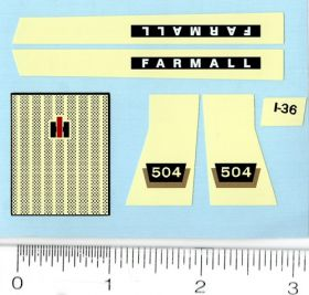 Decal 1/16 Farmall 504 Set