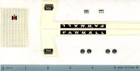 Decal 1/16 Farmall 706 DieselSet