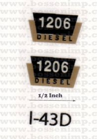 Decal 1/16 Farmall 1206 Diesel Model Number