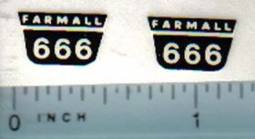 Decal 1/16 Farmall 666 Model Number