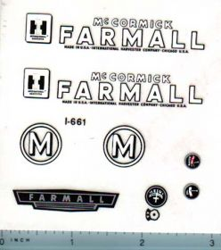 Decal 1/08 McCormick Farmall M Set