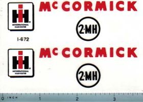 Decal 1/08 McCormick 2-MH Corn Picker Set (white elevator)