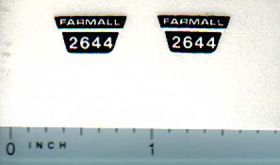 Decal 1/16 International Farmall 2644 Model Number