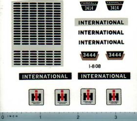 Decal 1/16 International 3444 or 3414 Loader Backhoe Set