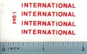 Decal International Logo (red on clear)