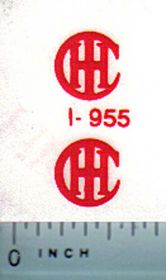 Decal IHC Logo (red) 3/8 inch