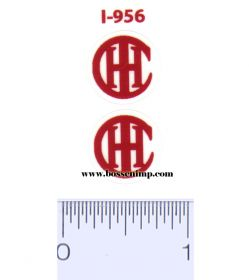 Decal IHC Logo red 1/2 inch