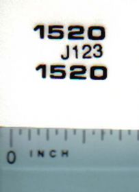 Decal 1/16 John Deere 1520 JD Model Numbers