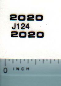 Decal 1/16 John Deere 2020 Model Numbers
