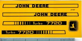 Decal 1/16 John Deere Combine 7720 Turbo Set