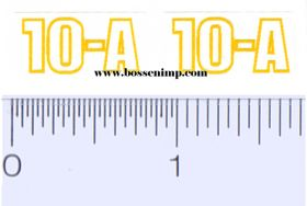 Decal 1/16 John Deere Hammer Mill 10-A Model Numbers