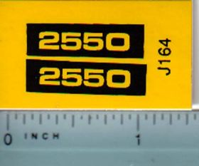 Decal 1/16 John Deere 2550 Model Numbers