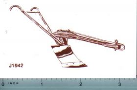 Decal 1837 Plow (brown on clear)