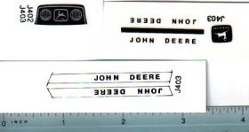 Decal 1/16 John Deere L&G Colored Set white