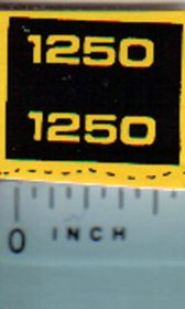 Decal 1/16 John Deere 1250 Compact Utility Model Numbers