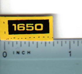 Decal 1/16 John Deere 1650 Compact Utility Model Numbers