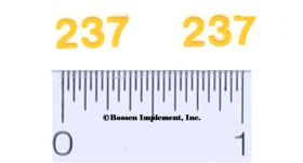Decal 1/16 John Deere Corn Picker 237 Model Numbers mounted