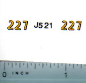 Decal 1/16 John Deere Corn Picker 227 Model Numbers