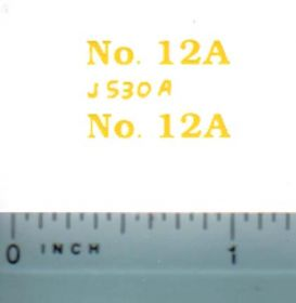 Decal 1/16 John Deere Combine 12A Model Numbers