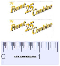Decal 1/16 John Deere Combine 25 Peanut Model Numbers