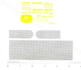 Decal 1/16 John Deere Combine 105EB & 634 Set