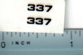 Decal 1/16 John Deere Baler 337 Square Model Numbers