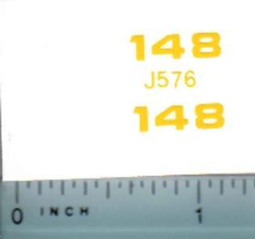 Decal 1/16 John Deere Loader 148 Model Numbers