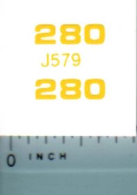 Decal 1/16 John Deere Loader 280 Model Numbers