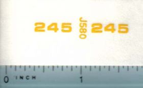 Decal 1/16 John Deere Loader 245 Utility Model Numbers