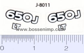 Decal 1/14 John Deere 650J Model Numbers