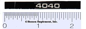 Decal 1/16 John Deere 4040 Model Numbers