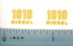 Decal 1/16 John Deere 1010 Diesel Outlined Model Numbers
