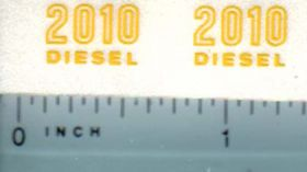 Decal 1/16 John Deere 2010 Diesel Outlined Models