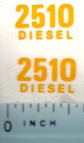 Decal 1/16 John Deere 2510 Diesel Model Numbers