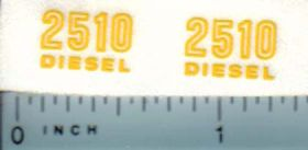 Decal 1/16 John Deere 2510 Diesel Outlined Model Numbers