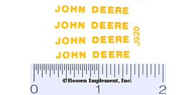 Decal 1/16 John Deere - Yellow 1 3/16in.