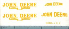 Decal 1/10 John Deere A, B, G Set 1937-1938 Version