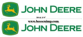 "Decal JD Coaster Wagon 10 5/8"" green Pair"