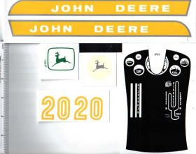 Decal John Deere 20 Series Late 1960's Pedal Tractor