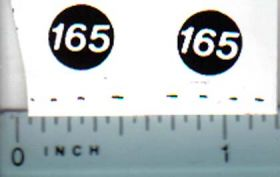 Decal 1/16 Massey Ferguson 165 Model Numbers
