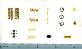 Decal 1/16 Massey Harris 44 Six Deluxe Set