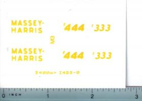 Decal 1/16 Massey Harris 333 or 444 Set