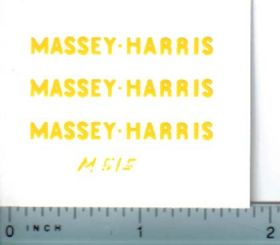 Decal 1/20 Massey Harris Combine Reuhl