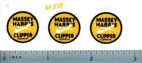 Decal 1/20 Massey Harris Combine Clipper