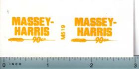 Decal 1/16 Massey Harris Combine 90 SP