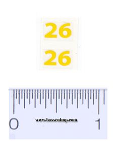 Decal 1/16 Massey Harris Combine 26 Model Numbers Yellow (pair)